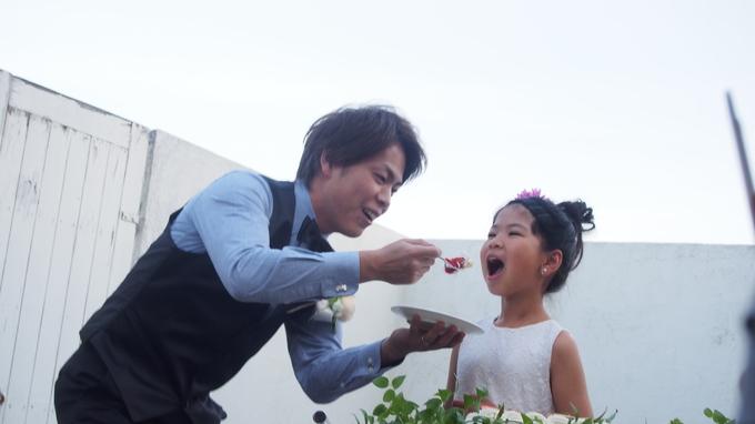 テラスでのケーキセレモニー.JPG